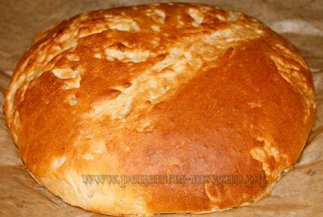 Хлеб на закваске с чесноком и оливковым маслом