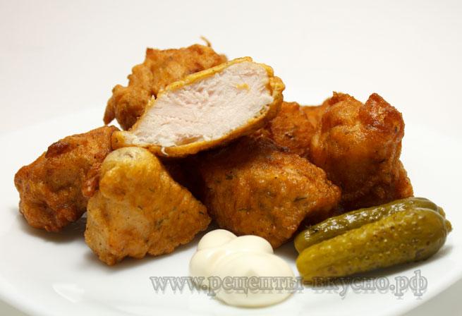 Куриное филе в кляре