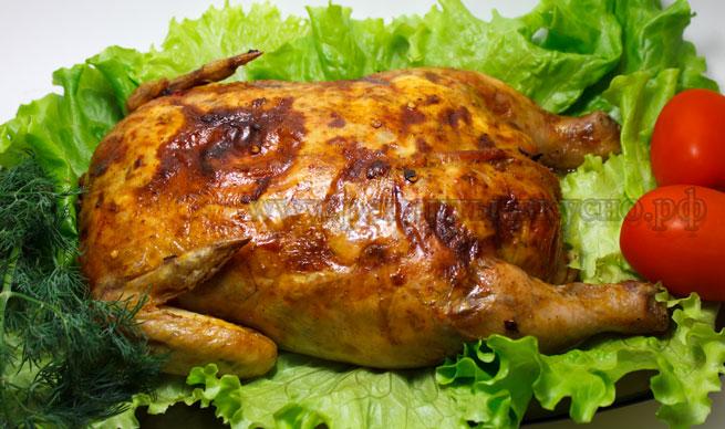 Фаршированная курица целиком