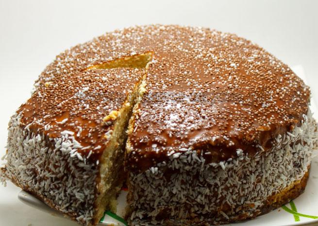 Медовый Торт с творожным суфле