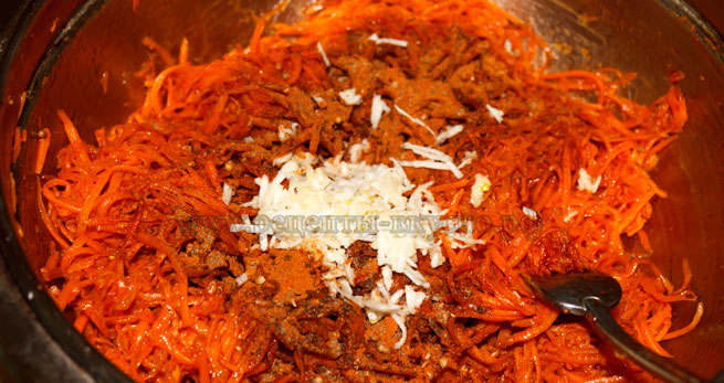Острая морковь по-корейски