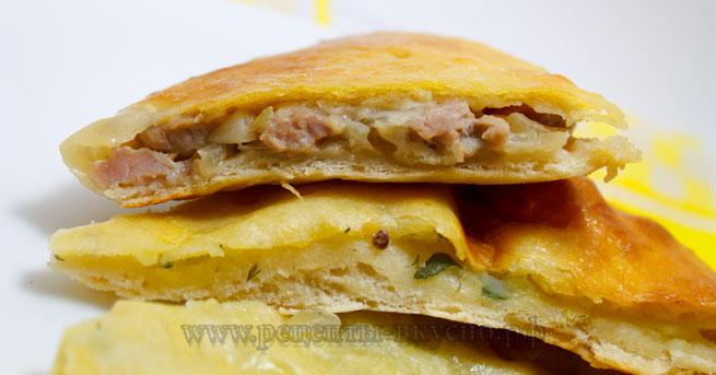 Хачапури с картофелем и мясом