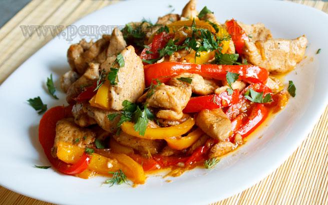 рецепты курица с овощами с фото